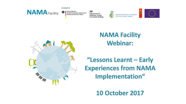 Webinar - Lessons Learnt - Early Experiences from NAMA Implementation